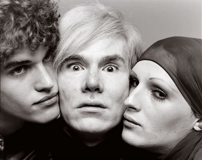 Andy Warhol, artist, Jay Johnson and Candy Darling, actors, New York. August 20. 1969. Richard Avedon